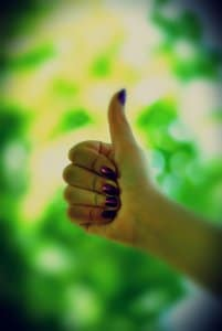 Cool picture of thumbs up