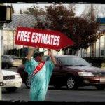 Tax preparer - guy holding sign